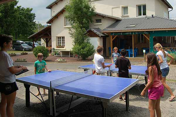 ping pong camping puy de dome
